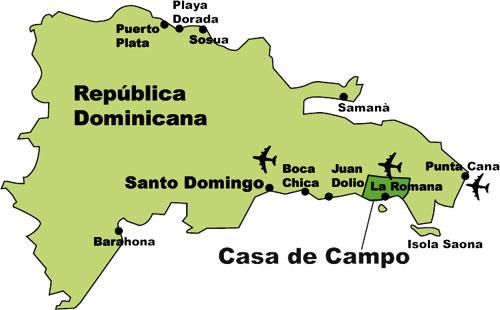 Casa de campo las rosas blancas mar y golf - Mapa de la casa de campo ...